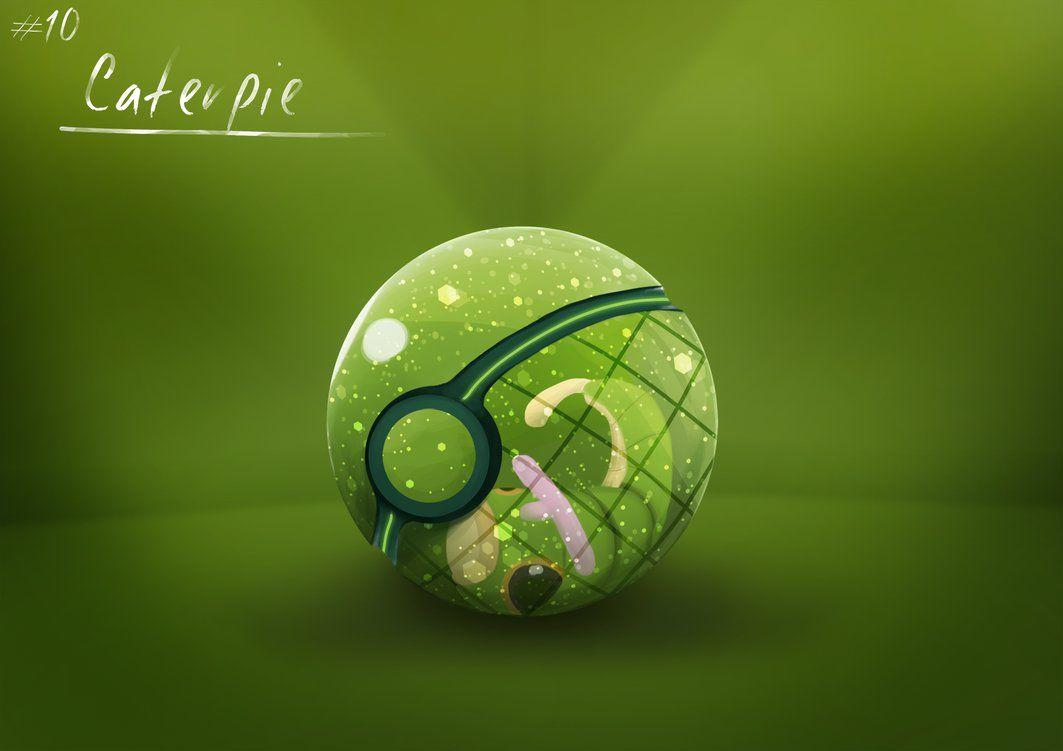 Conceptual Pokeball ~ Caterpie by Lun1c on DeviantArt