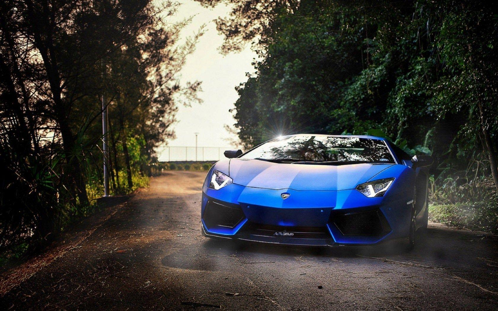 Lamborghini Aventador On Morning Wallpaper