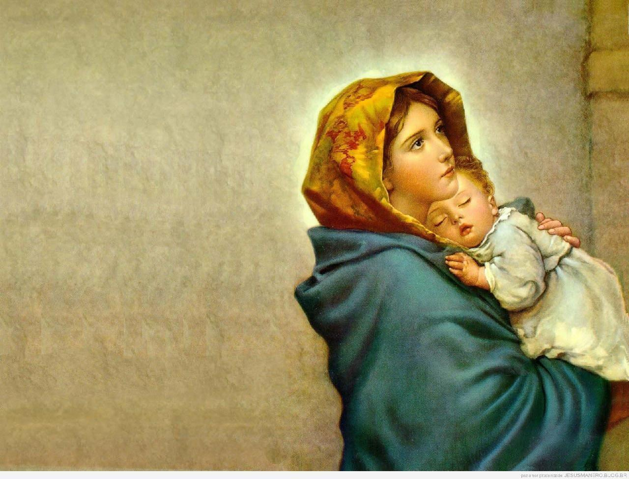 Mother Mary And Baby Jesus Wallpapers Wallpaper Cave