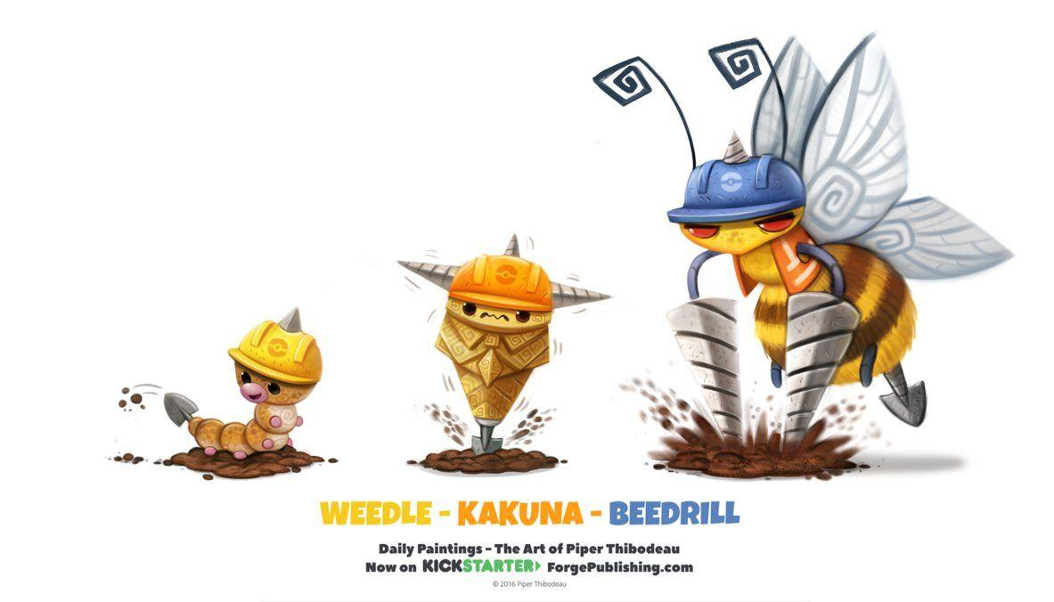 Weedle/ Kakuna/ Beedrill by Cryptid