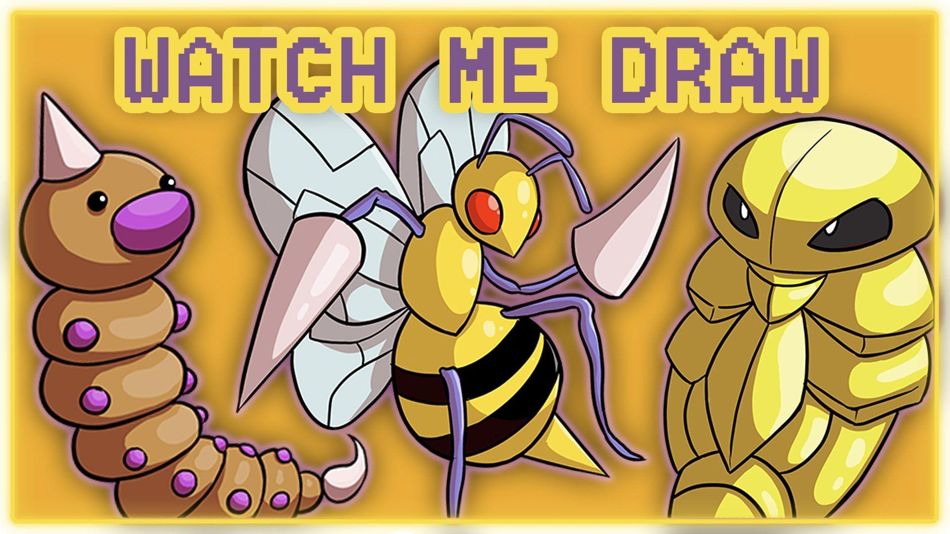 Watch Me Draw: Weedle, Kakuna and Beedrill!
