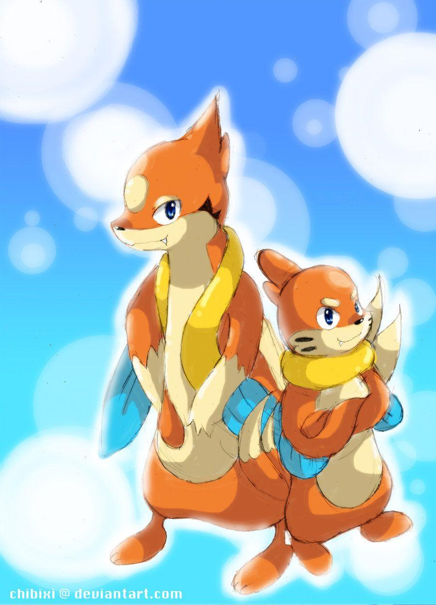 Floatzel and Buizel by Chibixi on DeviantArt