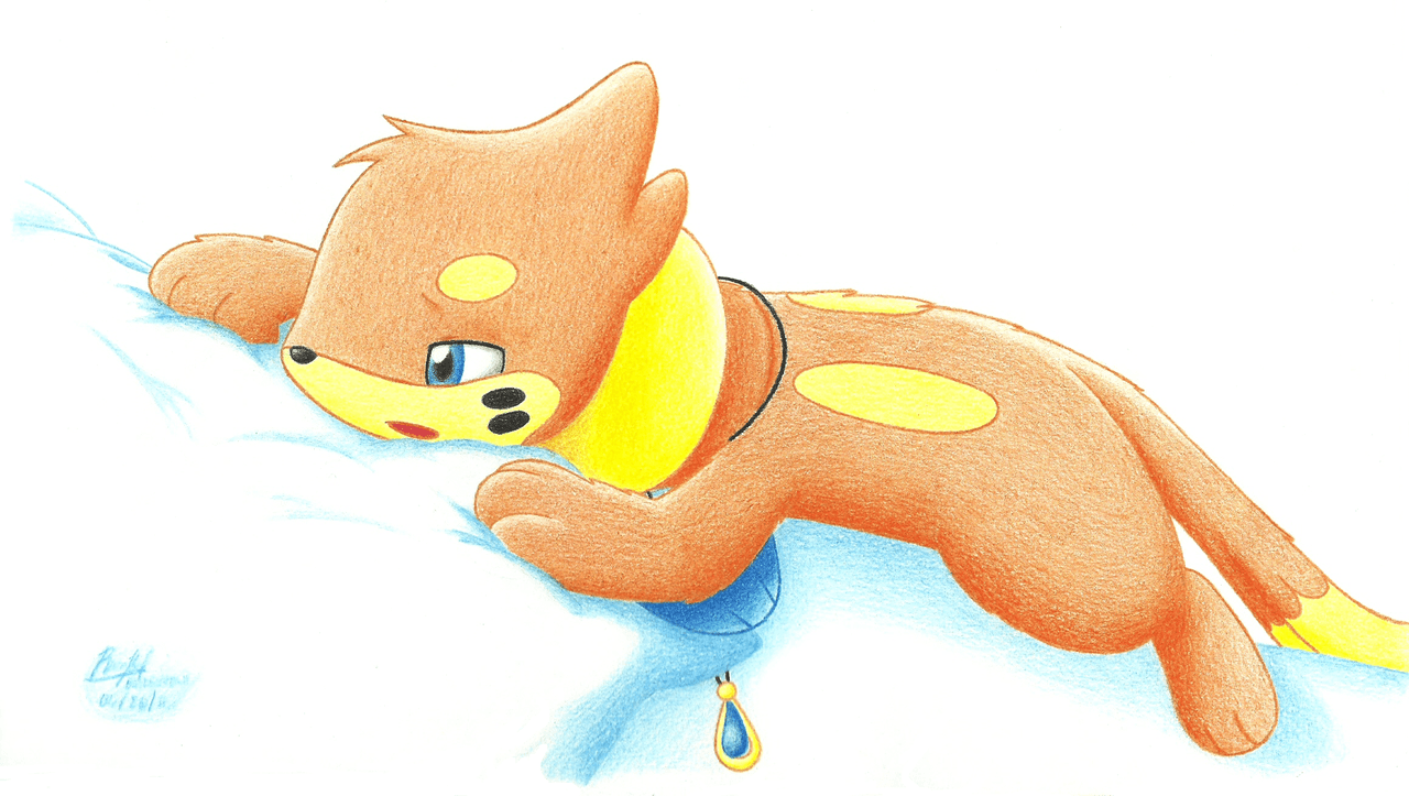 Tired and Sleepy Buizel by BuizelCream