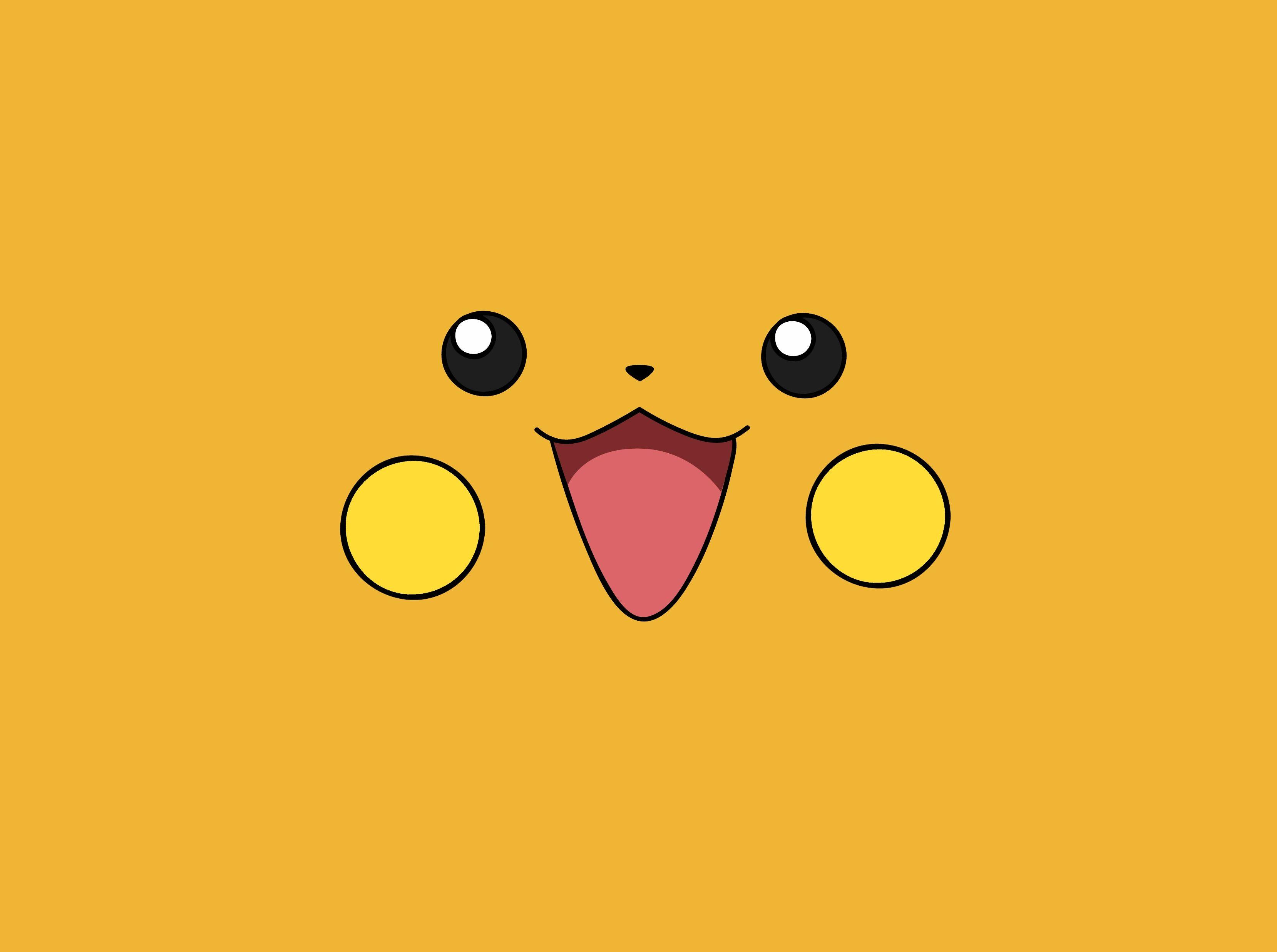 pokemon yellow raichu anime faces simple 3317x2474 wallpapers High