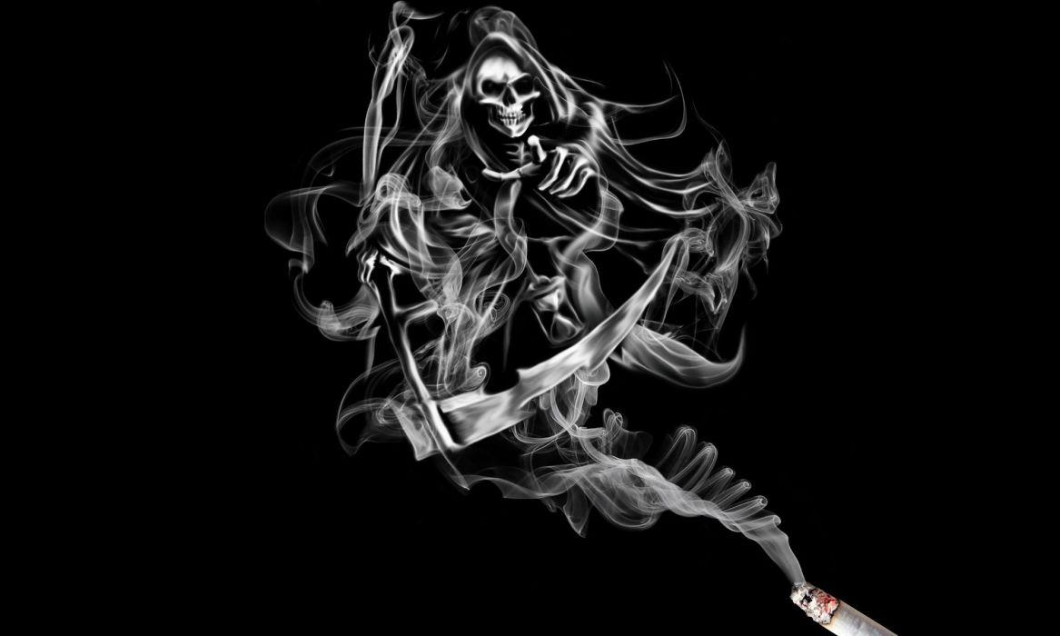 Smoking skull wallpapers wallpaper cave - Dark smoking wallpapers ...