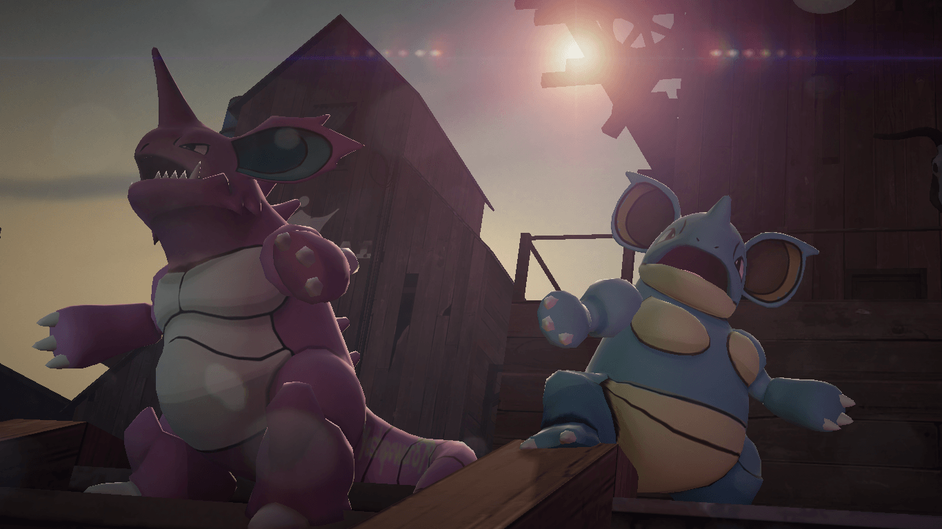 NidoKing and NidoQueen by yoshipower879