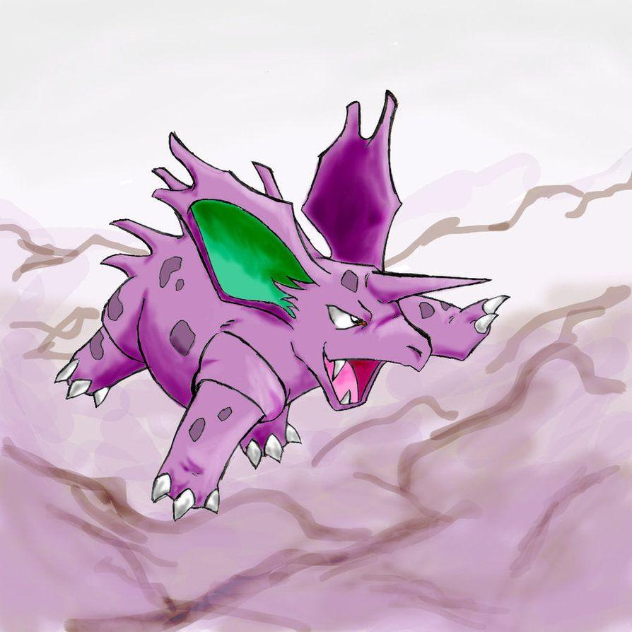Pokeddex challenge day 4: Nidorino by LetterBomb92