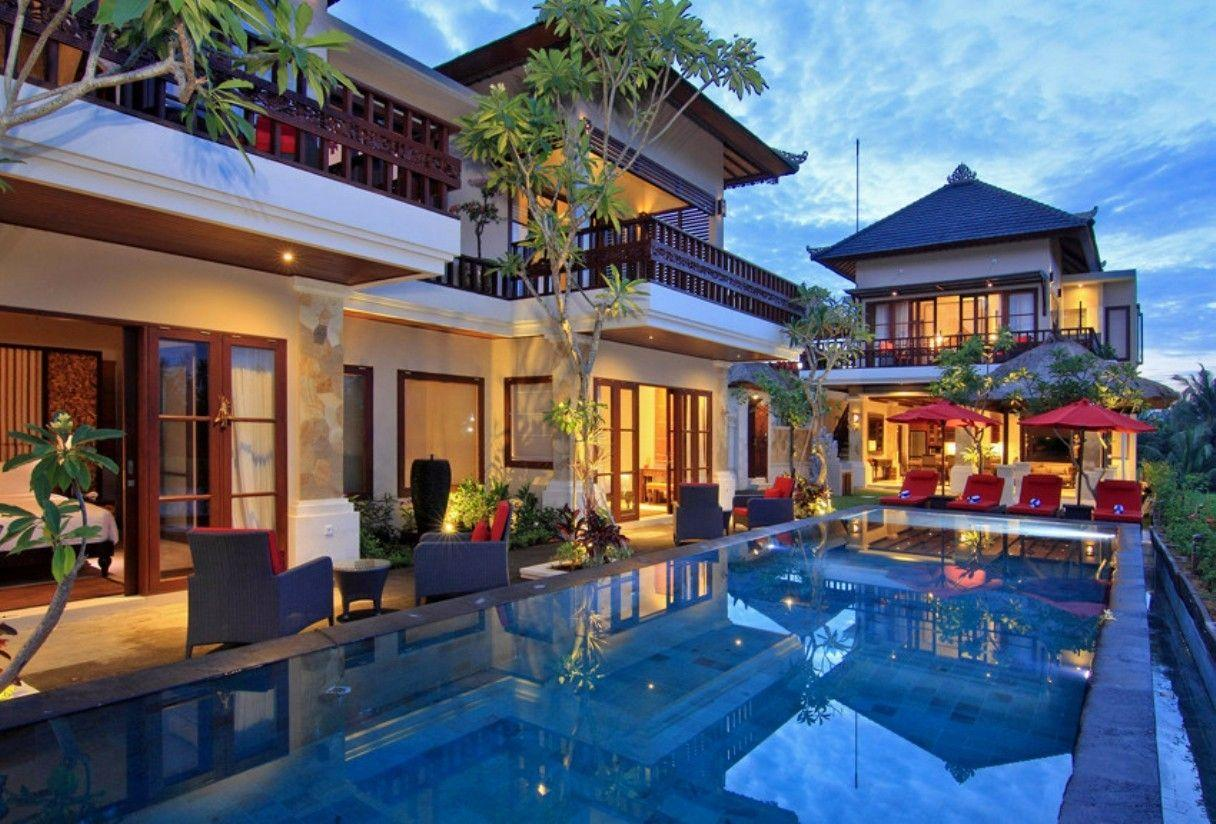 Houses Luxury House Beautiful Pool Place High Quality Wallpaper