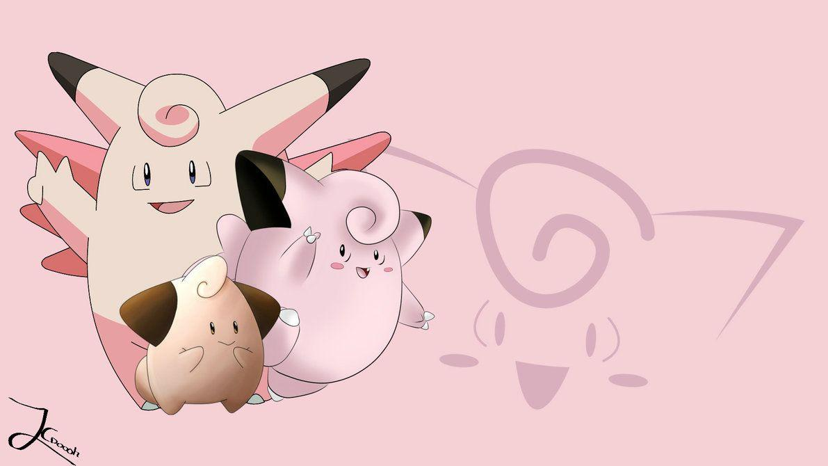 Clefairy evolution background/wallpaper by Jaceymon on DeviantArt