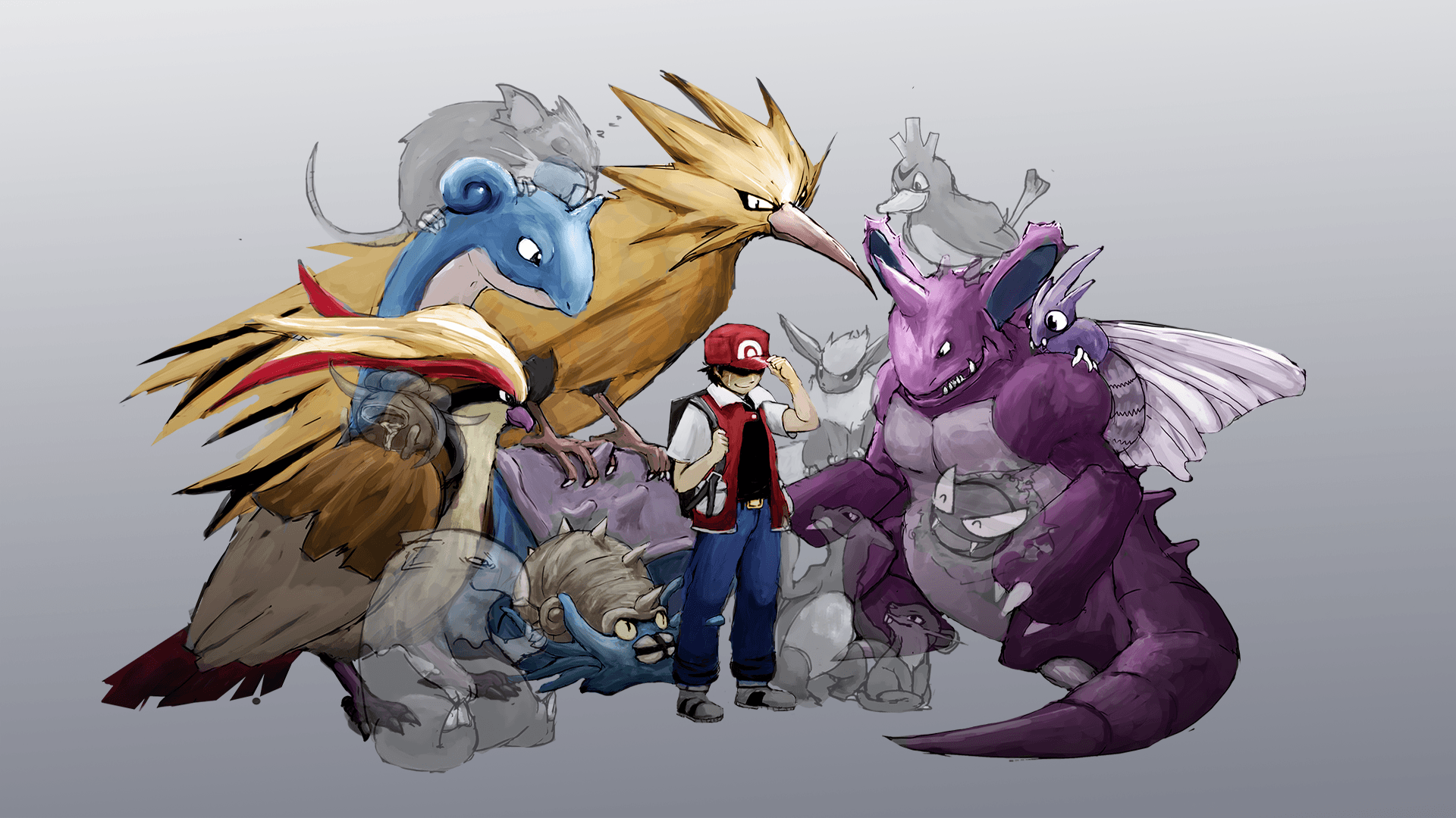 charmeleon, drowzee, farfetch'd, flareon, gastly, and others ...