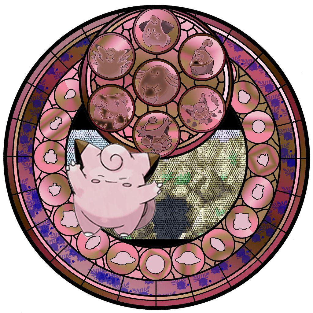 Clefairy Stained Galss by chibi22 on DeviantArt
