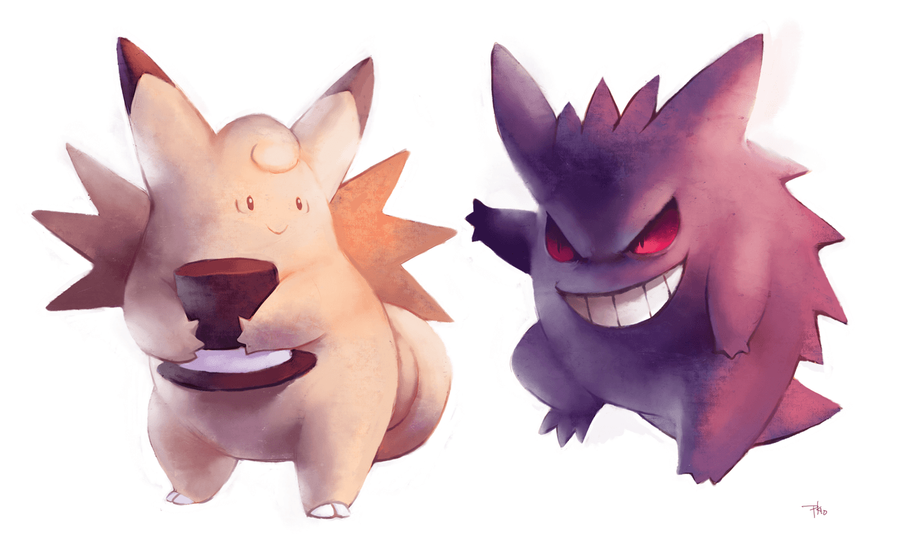 Clefable and Gengar by purplekecleon.deviantart.com on @deviantART ...
