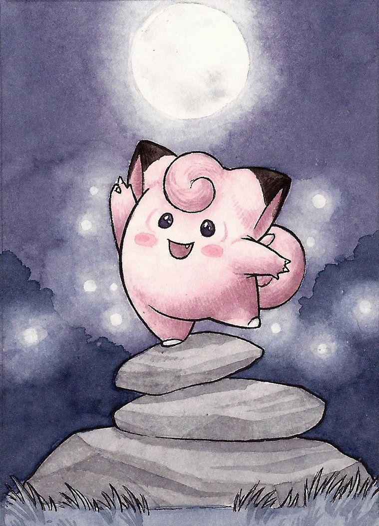 035 Clefairy (ACEO) by squizzlenut on DeviantArt