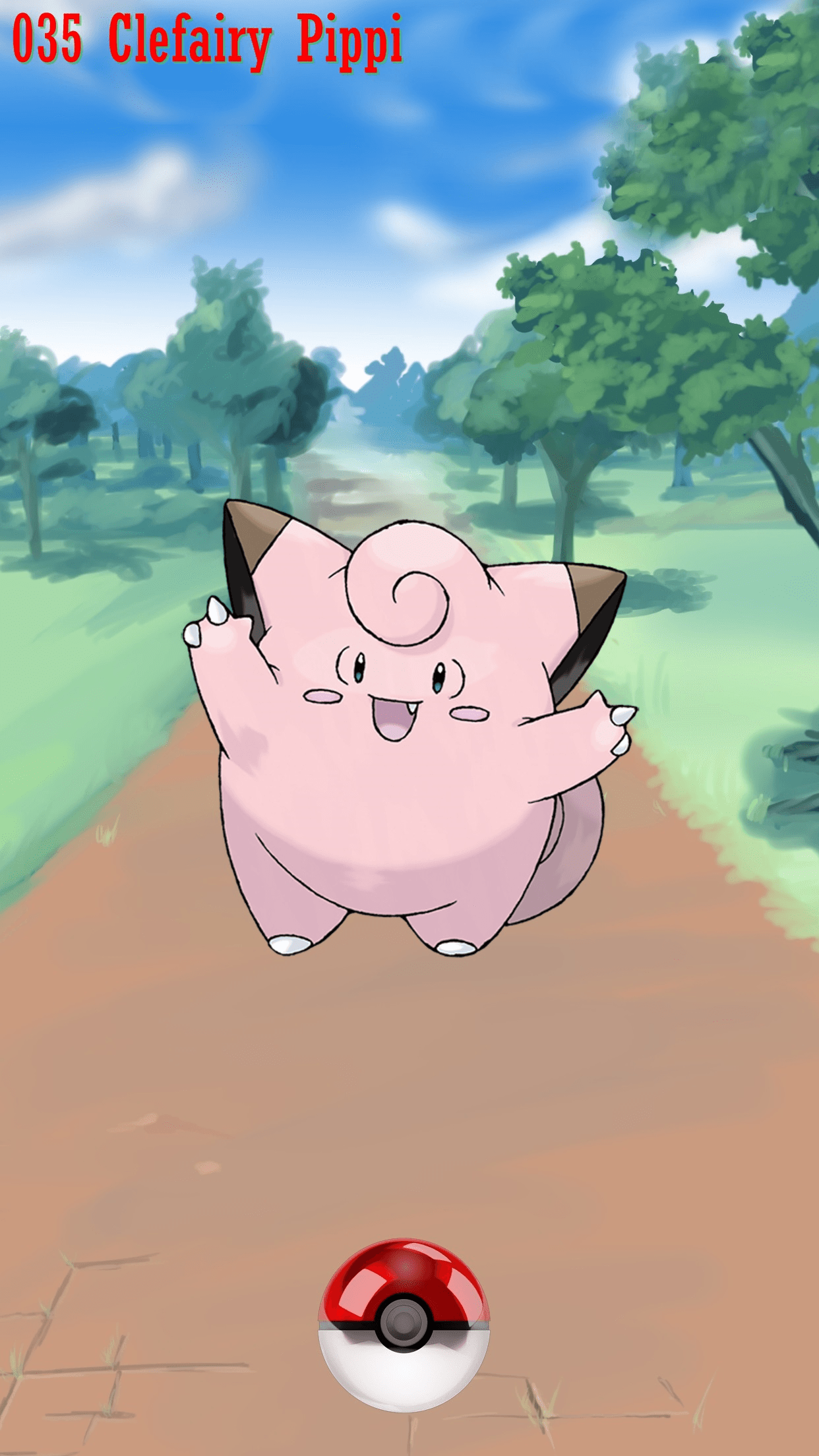 035 Street Pokeball Clefairy Pippi | Wallpaper