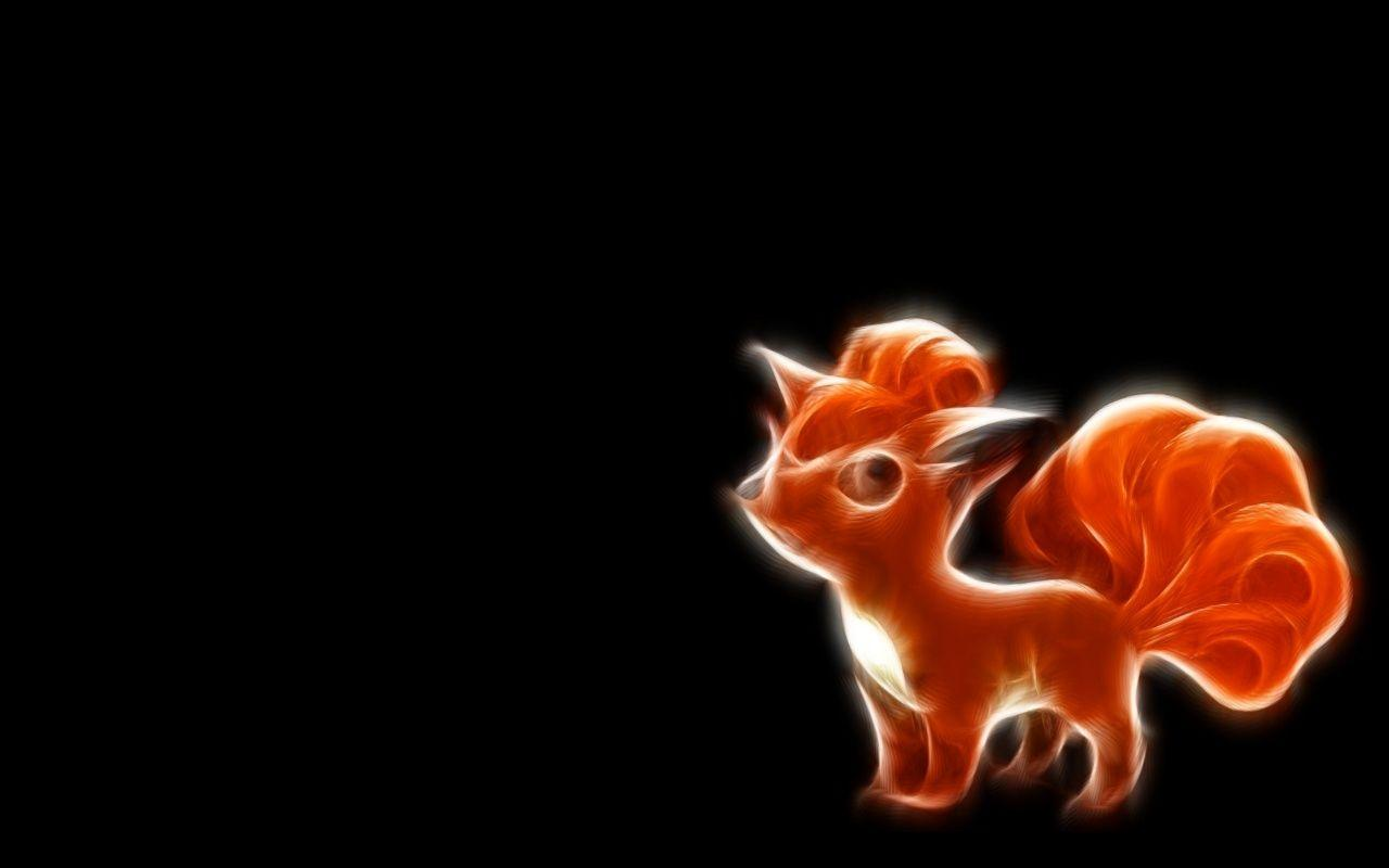 pokemon fractalius vector vulpix black background 1280x800 ...