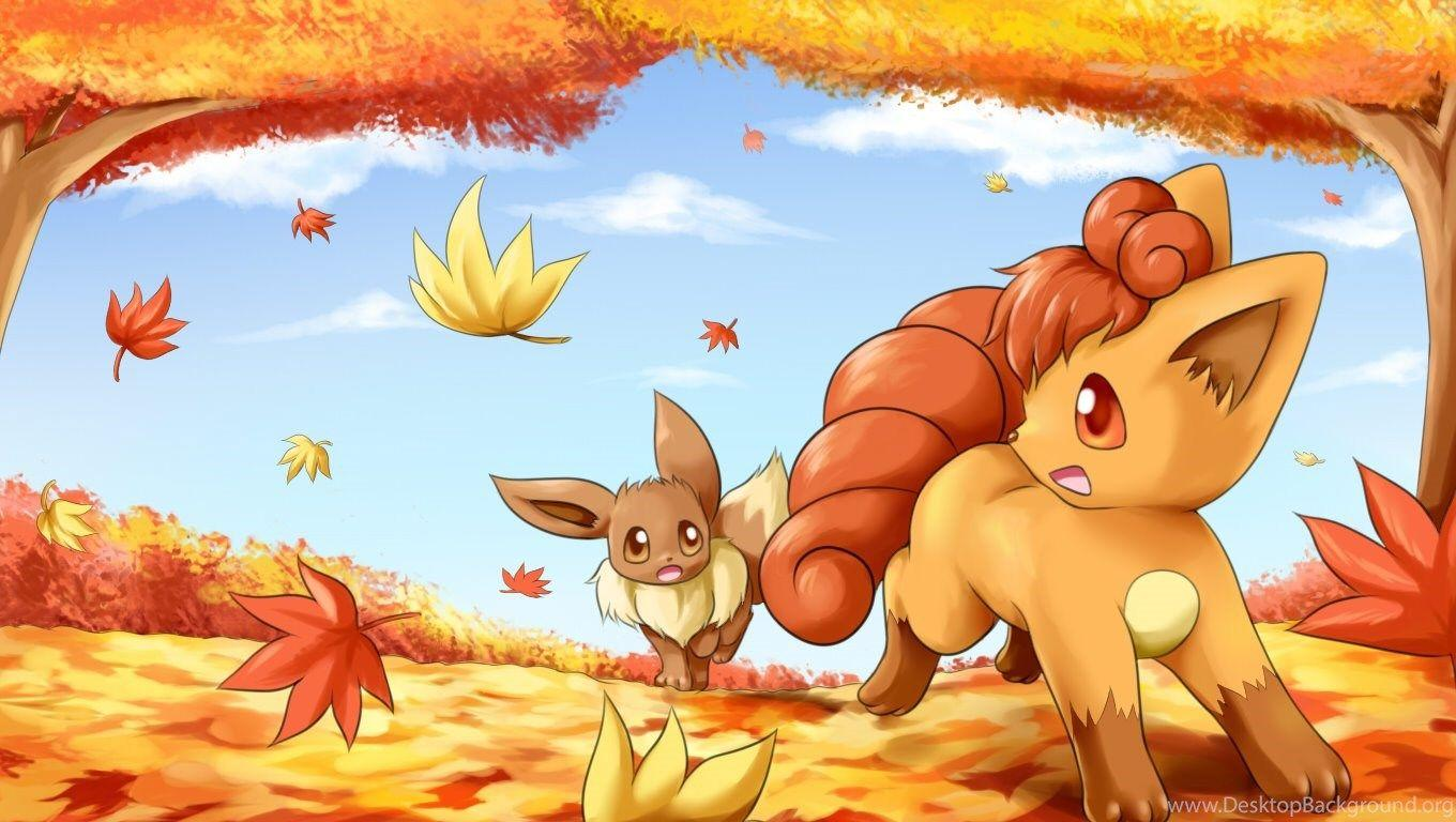 Wallpapers Vulpix And Eevee Ceafbfcffcd 1360x768 Desktop Background