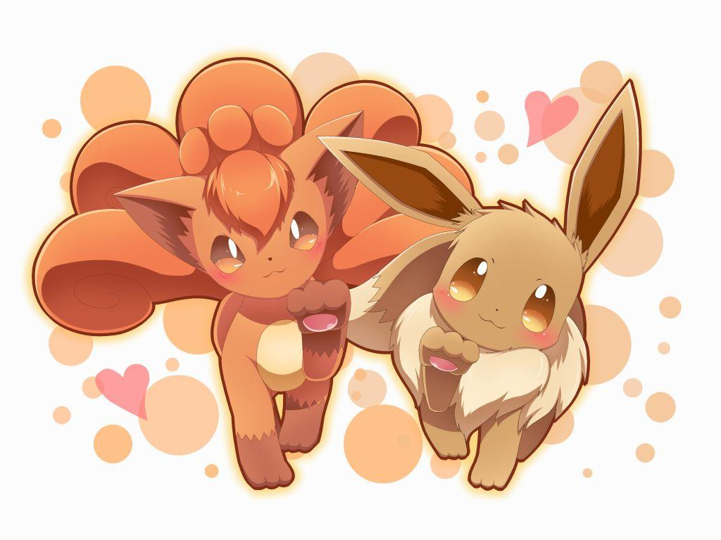 Vulpix and Eevee walking up | Pokémon | Know Your Meme