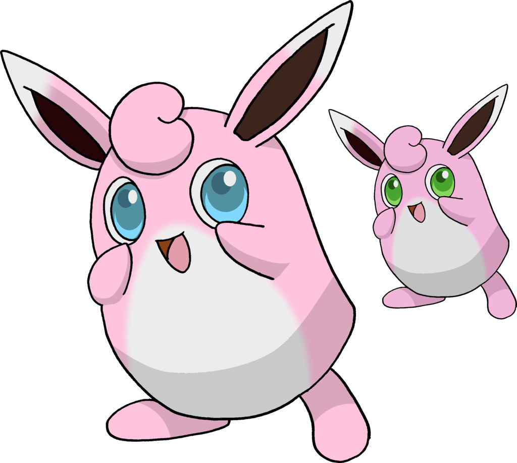 Wigglytuff and Shiny Wigglytuff