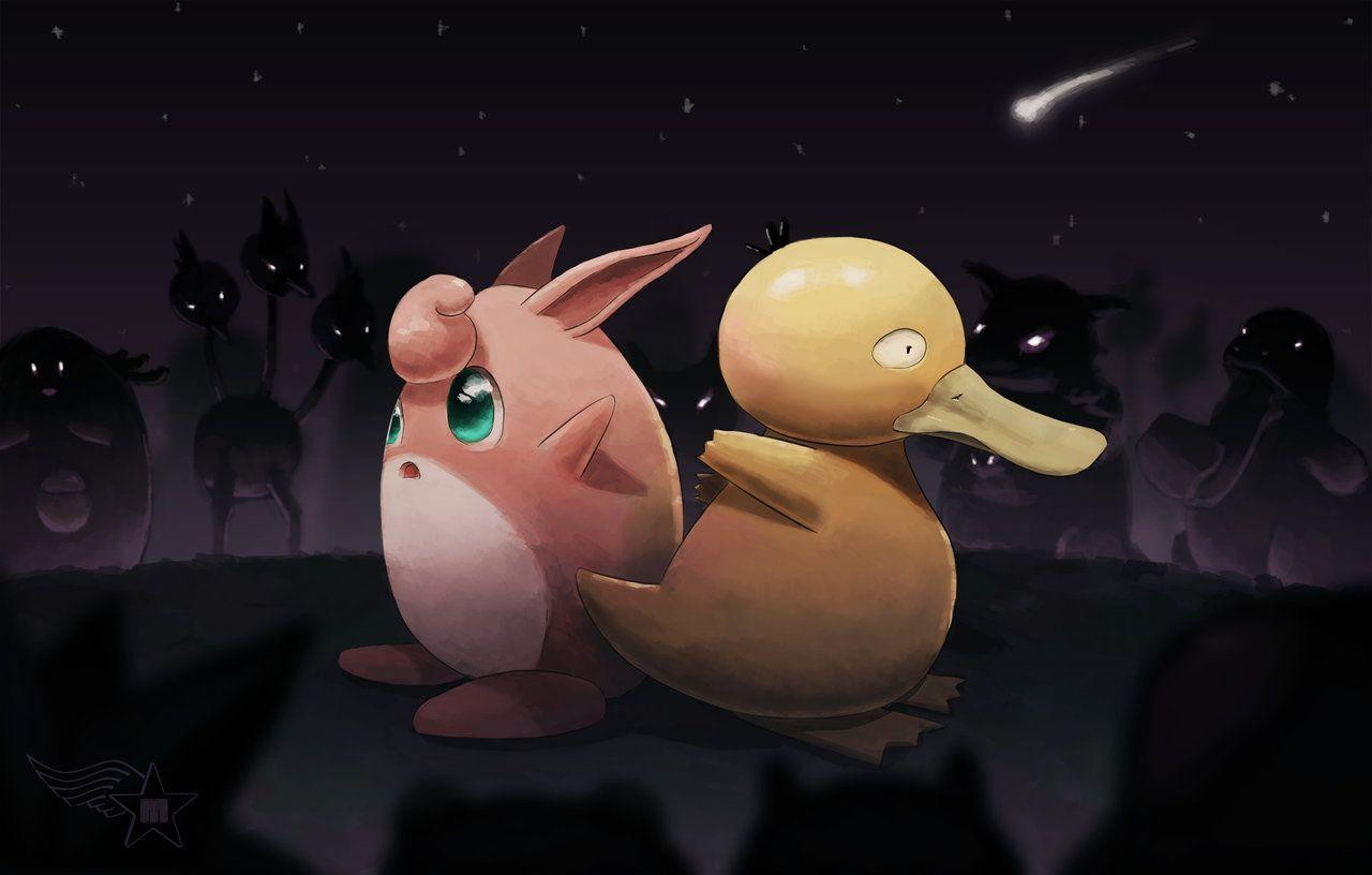 Wigglytuff and Psyduck by Akurakai