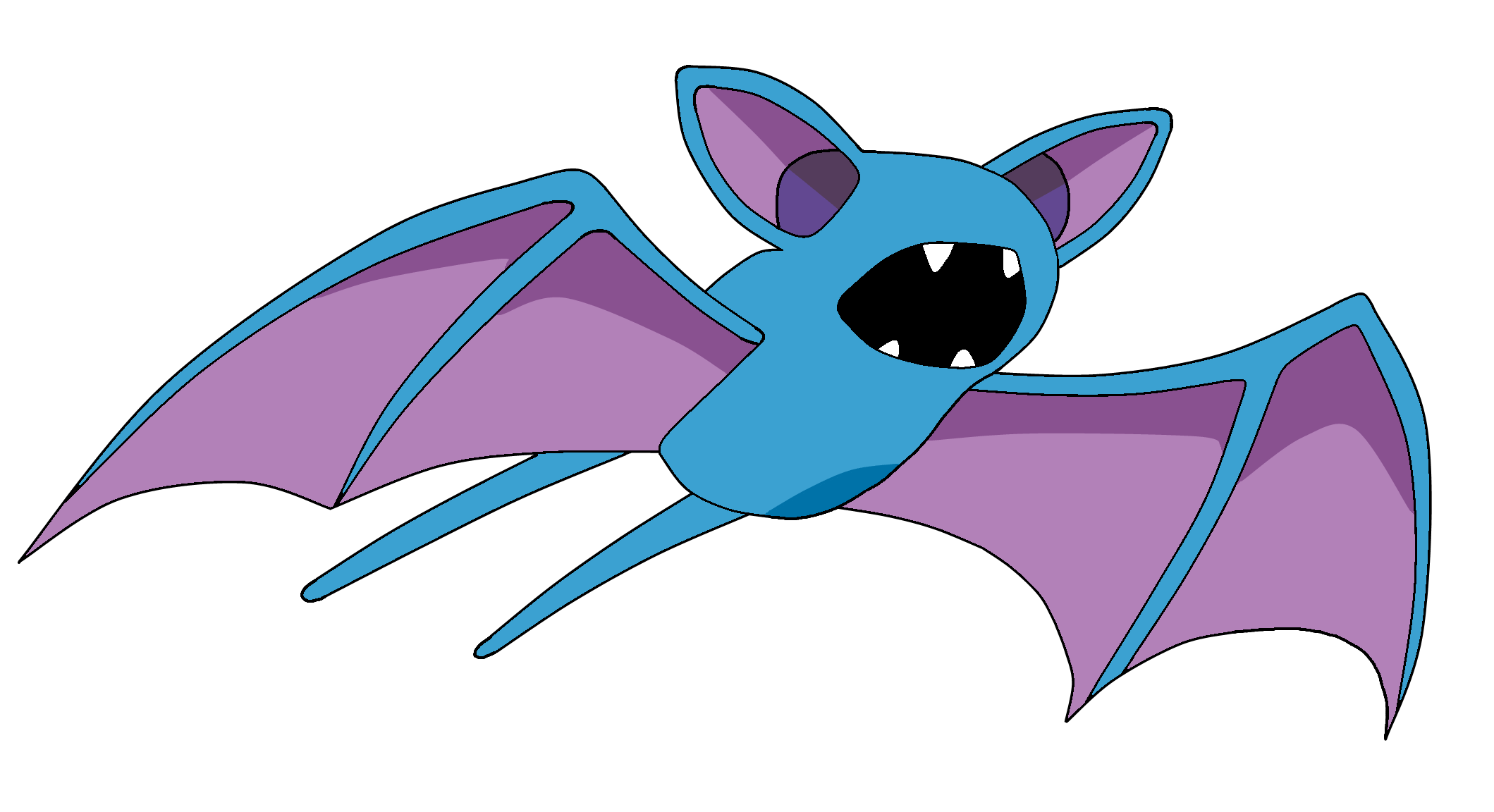 Pokemon Zubat 041 Lineart Farbig by WallpaperZero
