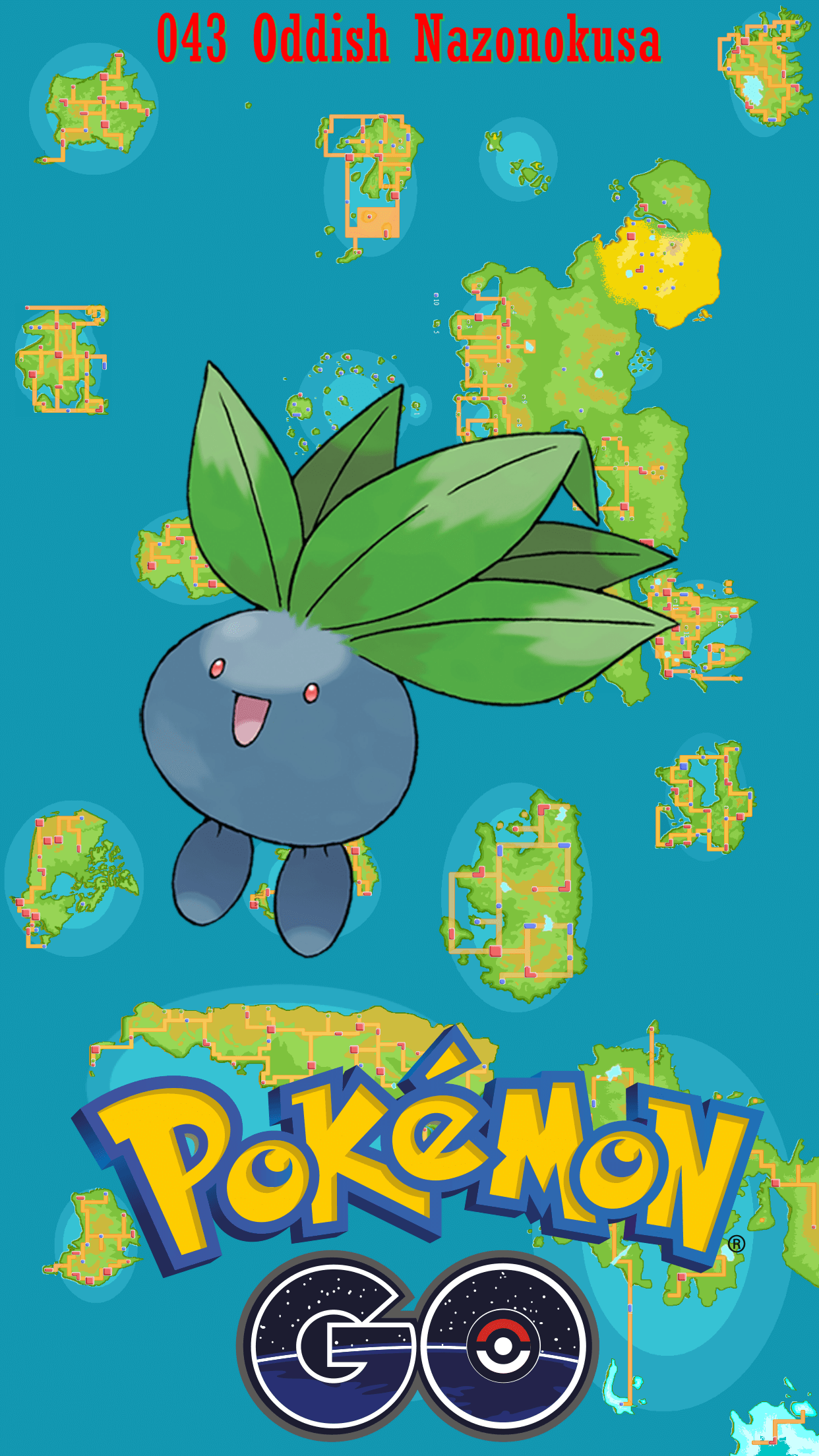 043 Street Map Oddish Nazonokusa | Wallpaper