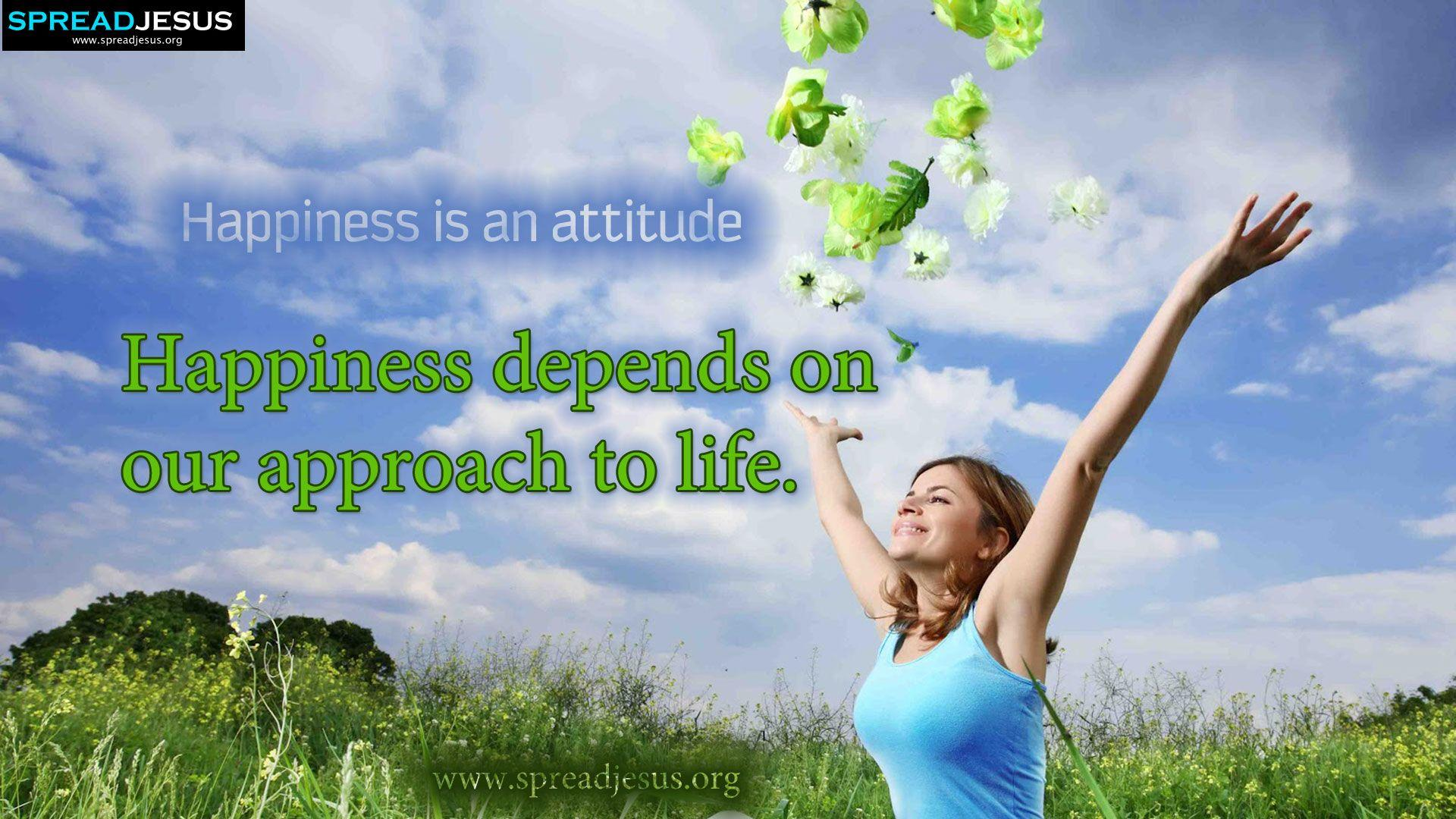 happiness depends on us Happiness and success will make us happy this is a false definition of happiness that depends on a never-ending string of achievements.