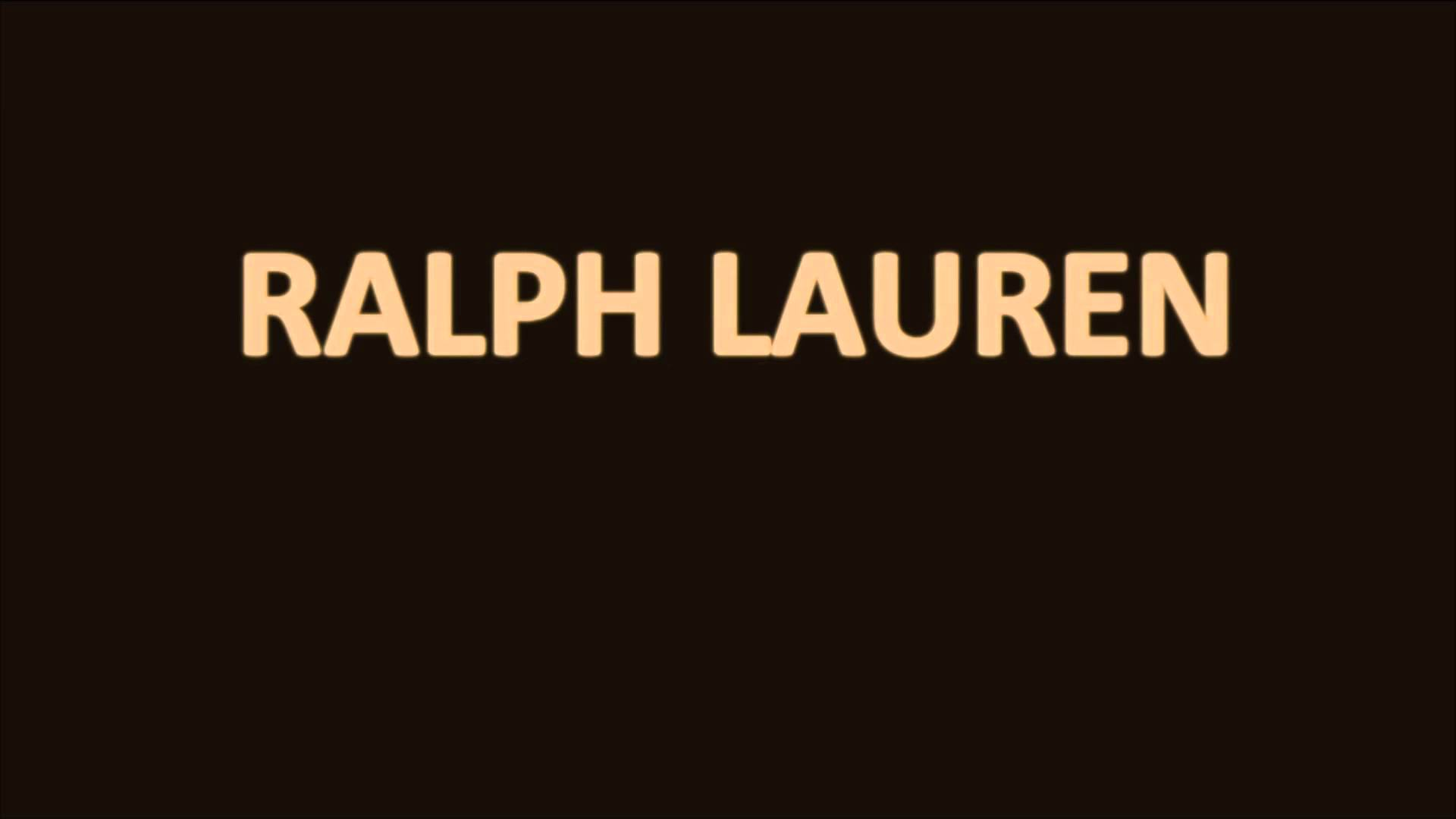 How to pronounce Ralph Lauren - YouTube
