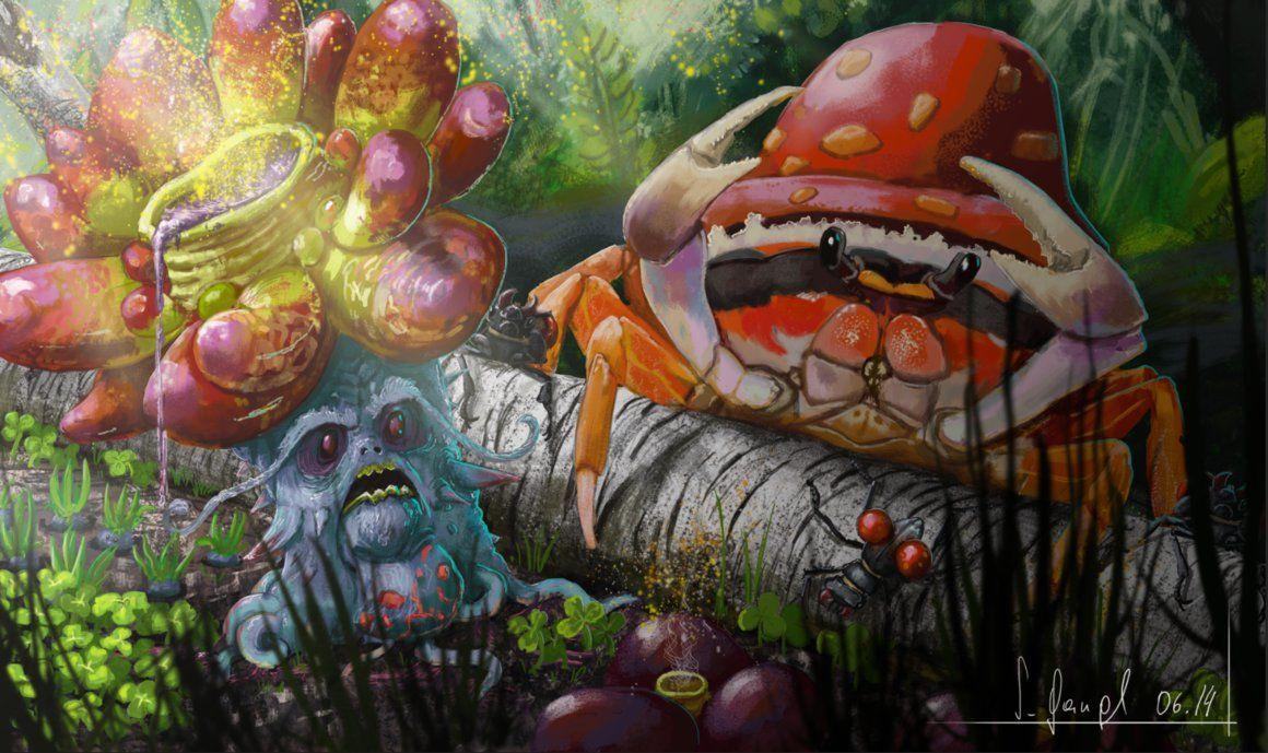 Pokemon - Vileplume VS Parasect by SimonGangl on DeviantArt