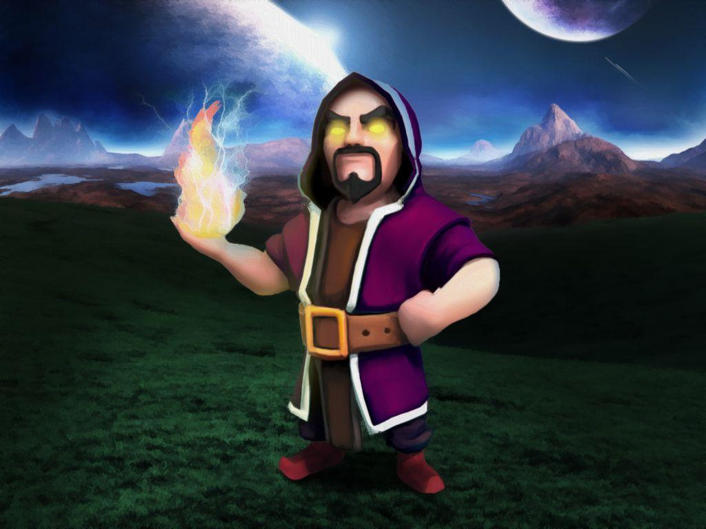 Clash Clans Wizard Wallpapers Wallpaper Cave