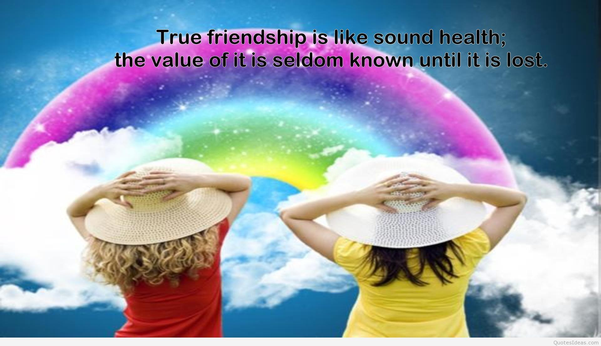 Best friends girls and friendship of girls quote wallpapers