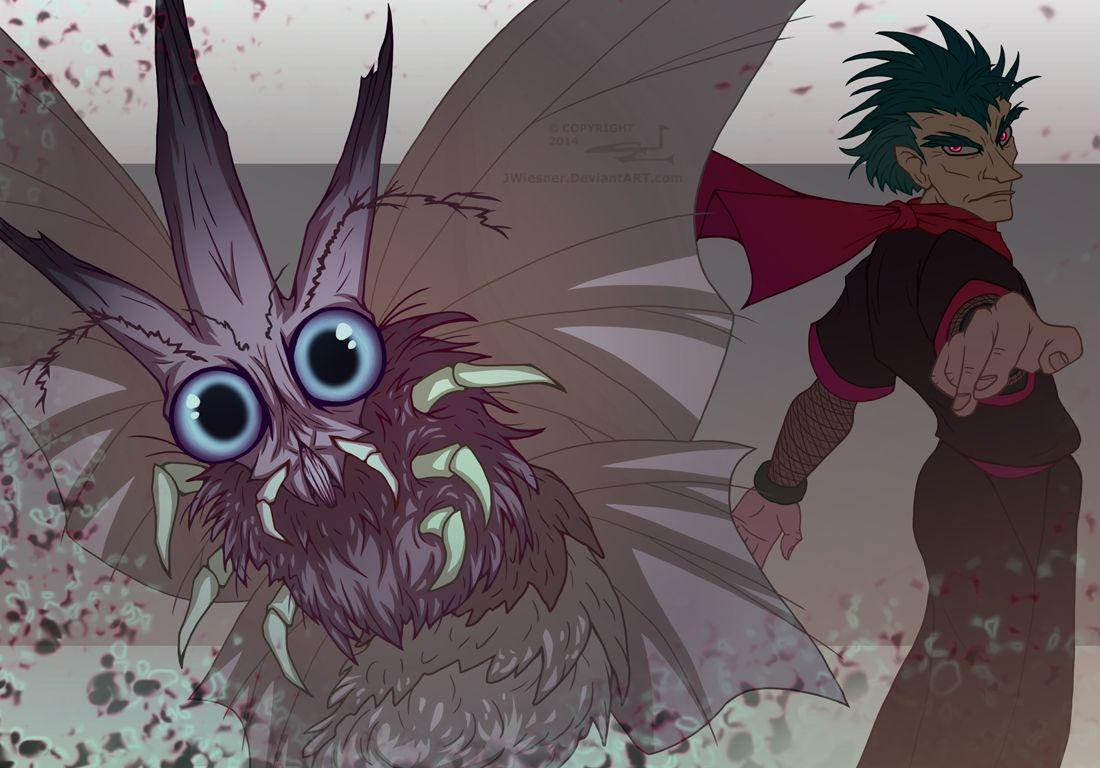 Venomoth and Koga by JWiesner