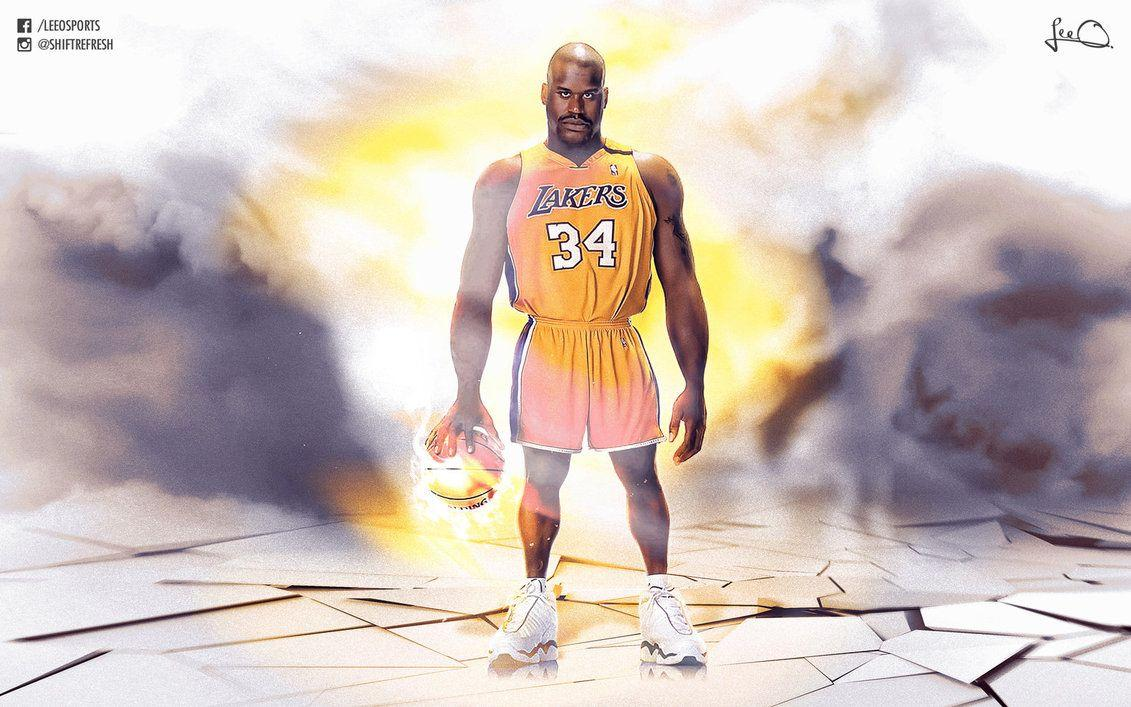 Shaquille O'Neal Caricature NBA Wallpapers by skythlee