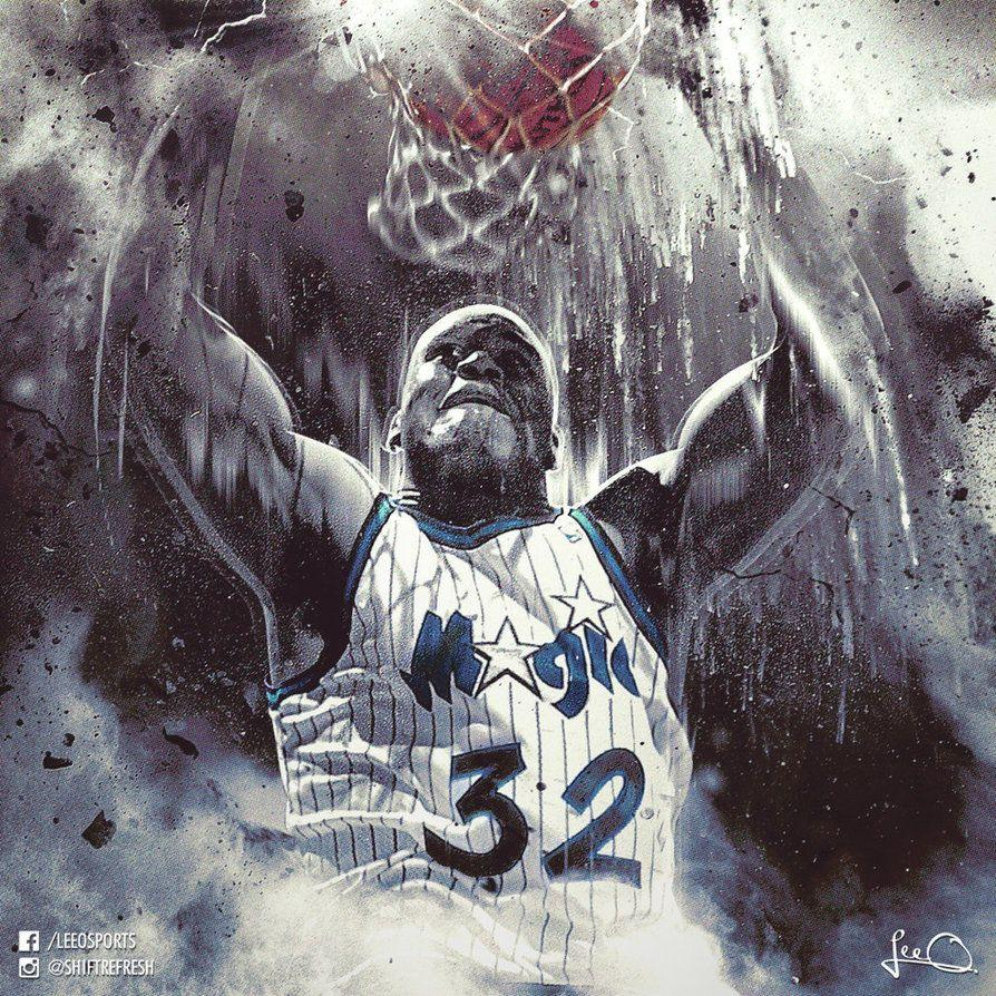 Shaquille O'Neal Orlando Magic NBA Artwork by skythlee