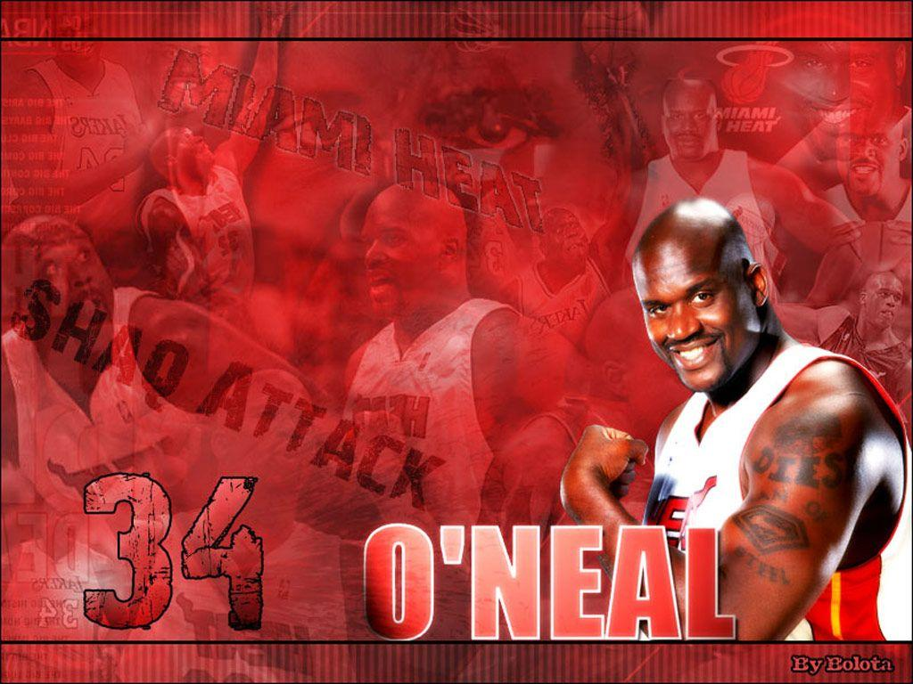 Shaquille O'Neal Miami Heat Wallpapers
