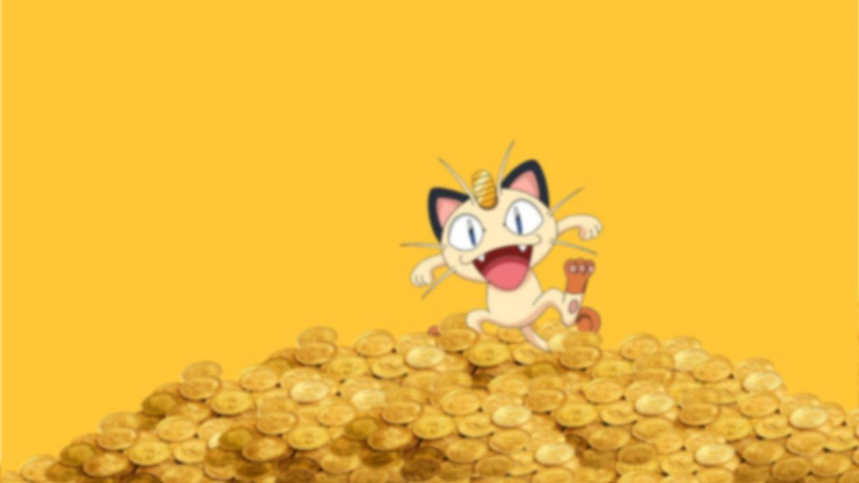 Pokemon coins money Meowth wallpapers