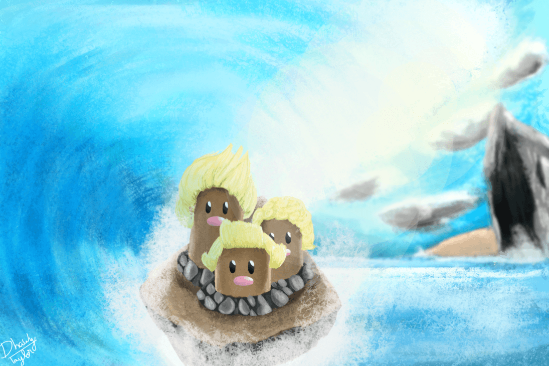 Dugtrio Alola form by DhawyT on DeviantArt