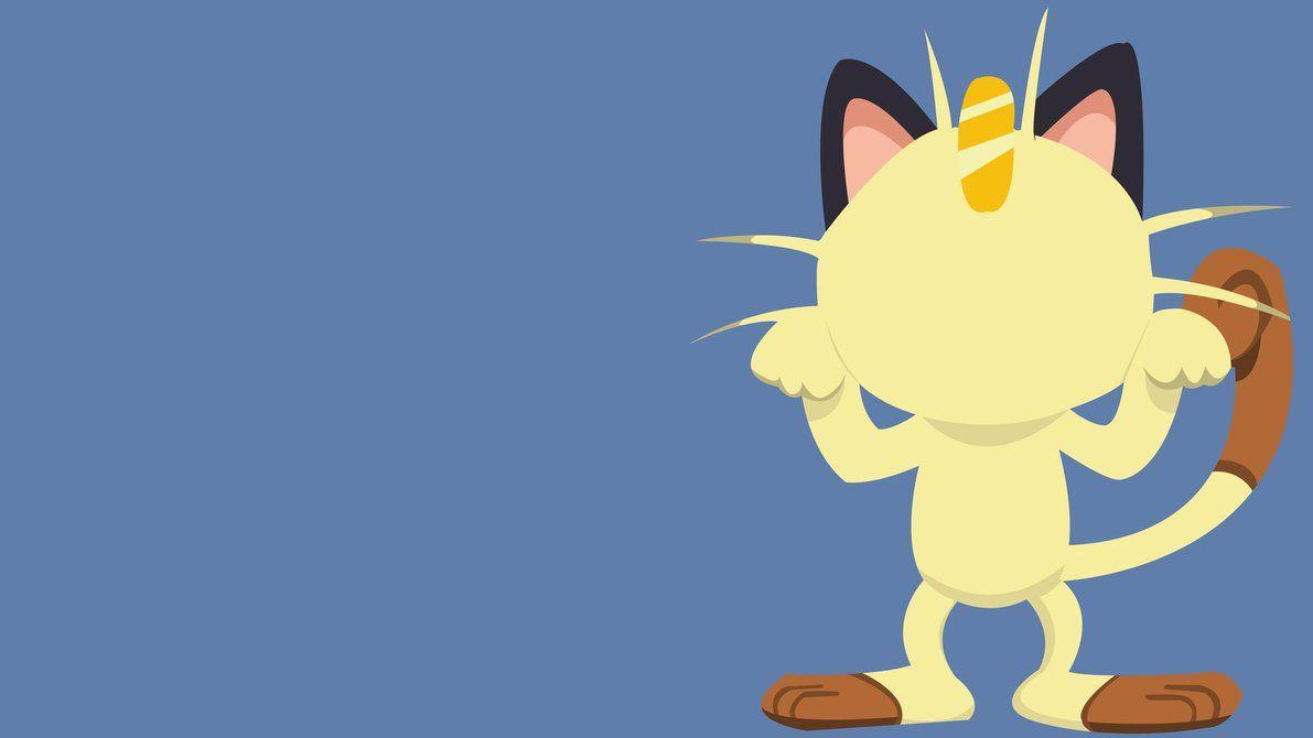 Pokemon Meowth Minimalist by Electro511