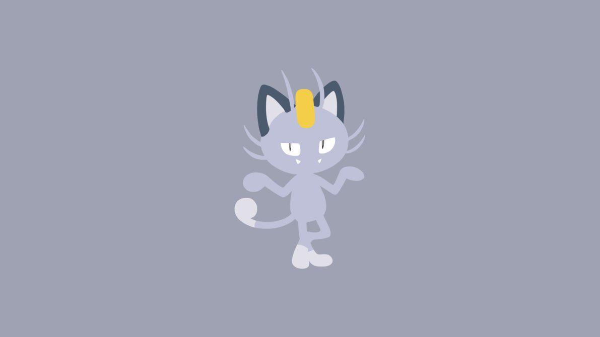 Minimalistic Wallpaper: Alolan Meowth