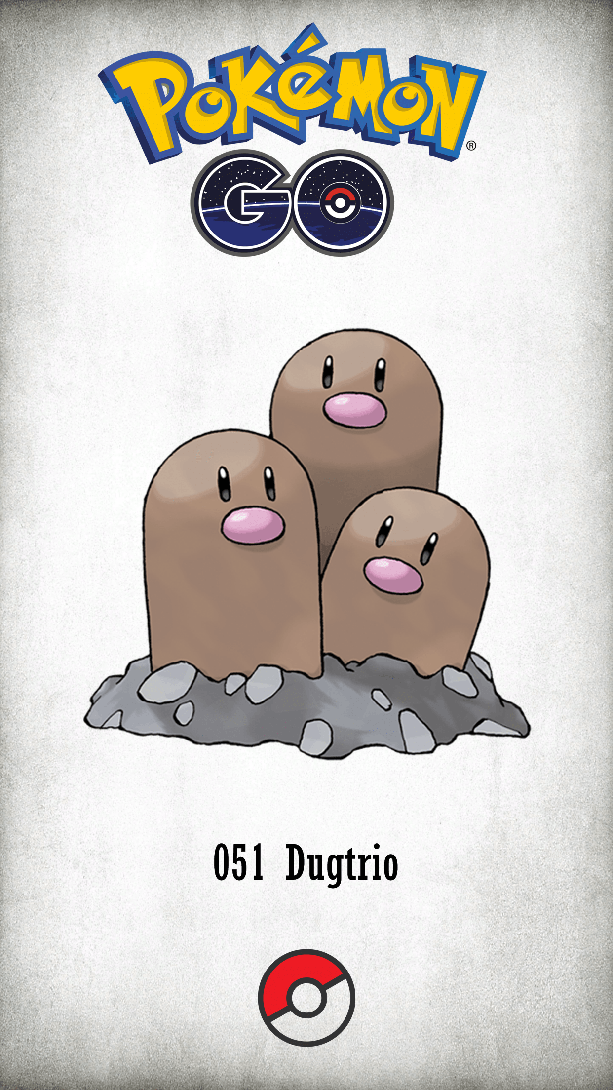 051 Character Dugtrio | Wallpaper
