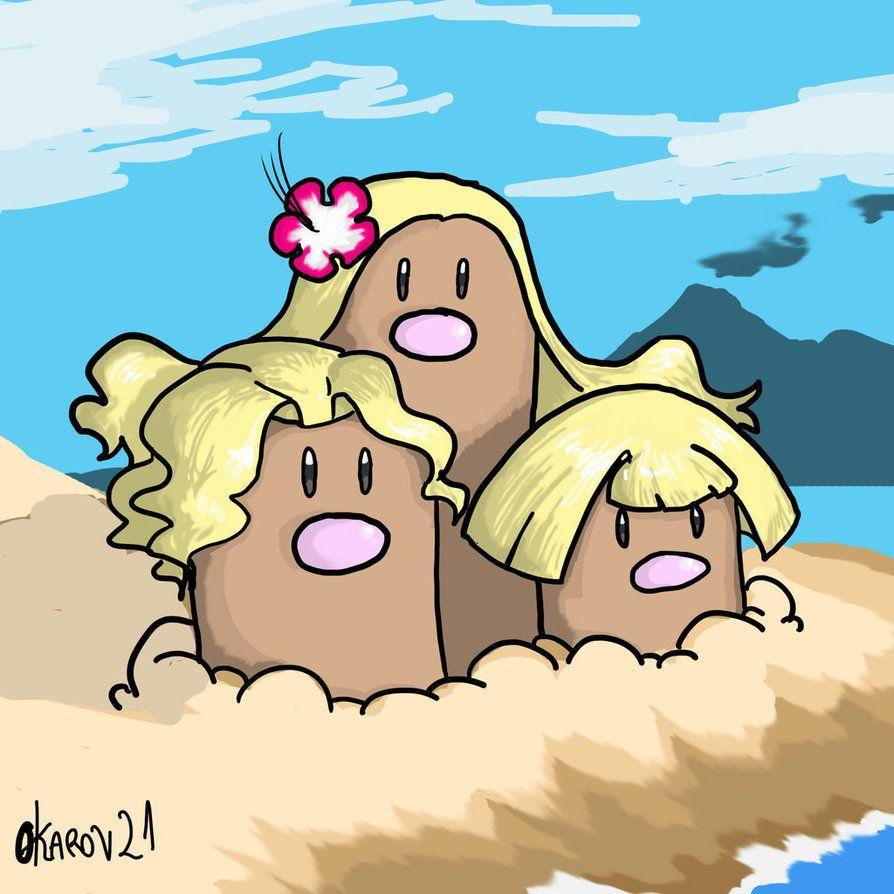 Alola form dugtrio by Okarov on DeviantArt