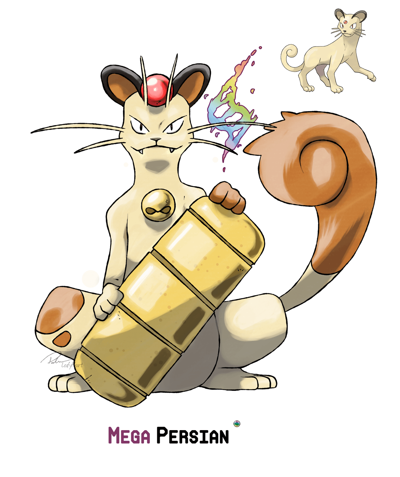 Mega Persian by LeafyHeart on DeviantArt