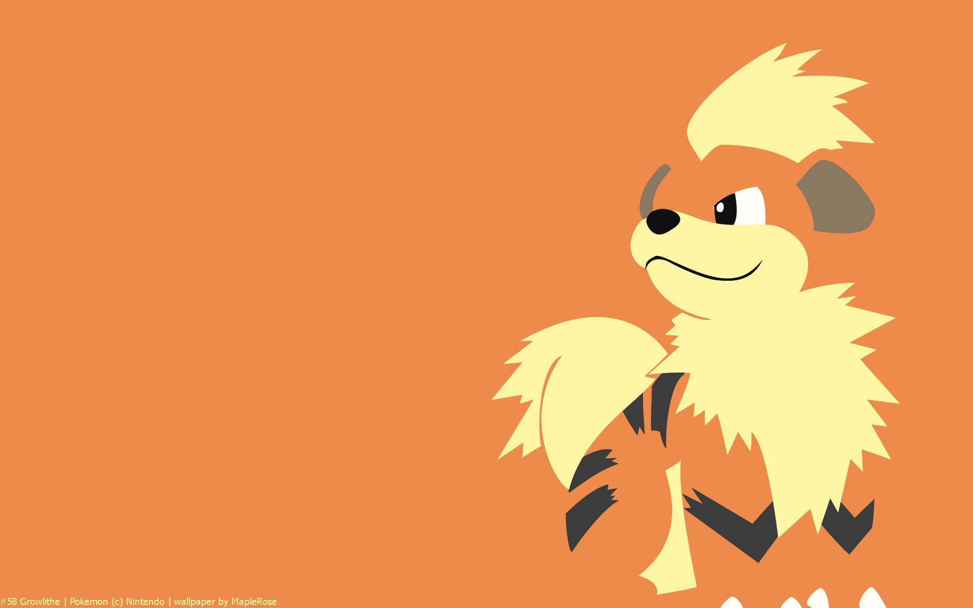 Growlithe Pokemon HD Wallpaper - Free HD wallpapers, Iphone ...