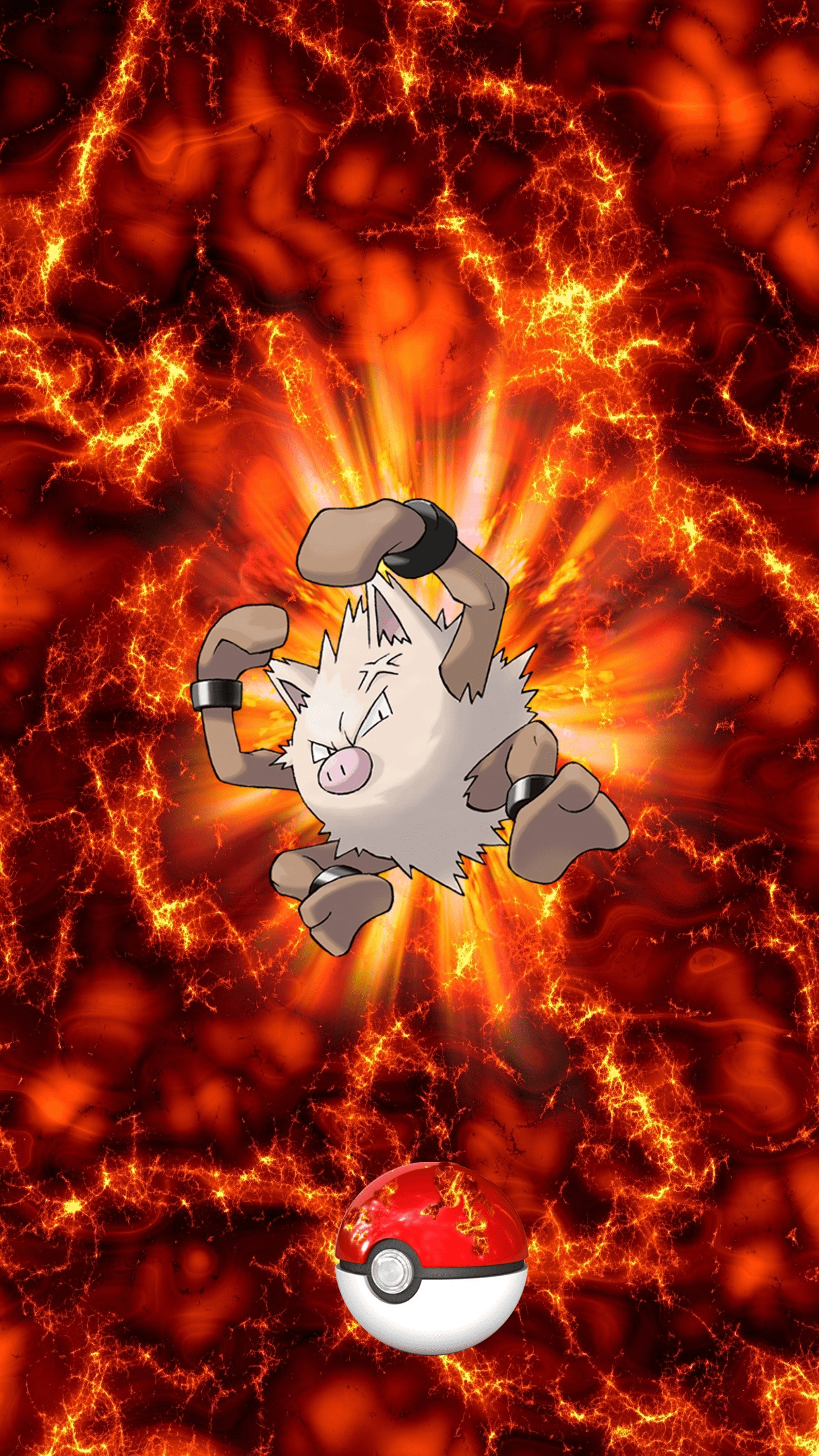 057 Fire Pokeball Primeape Okorizaru Mankey