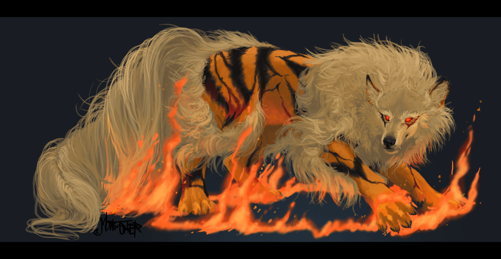 Arcanine Realist Art HD Wallpaper #4046 Wallpaper Themes ...