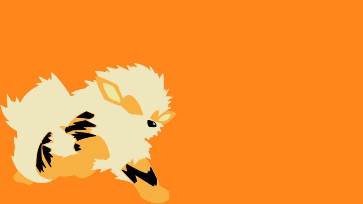 Arcanine Minimalist Wallpaper by Yoshski on DeviantArt