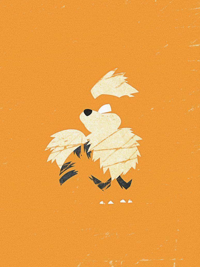 Minimal Growlithe by LaCron on DeviantArt