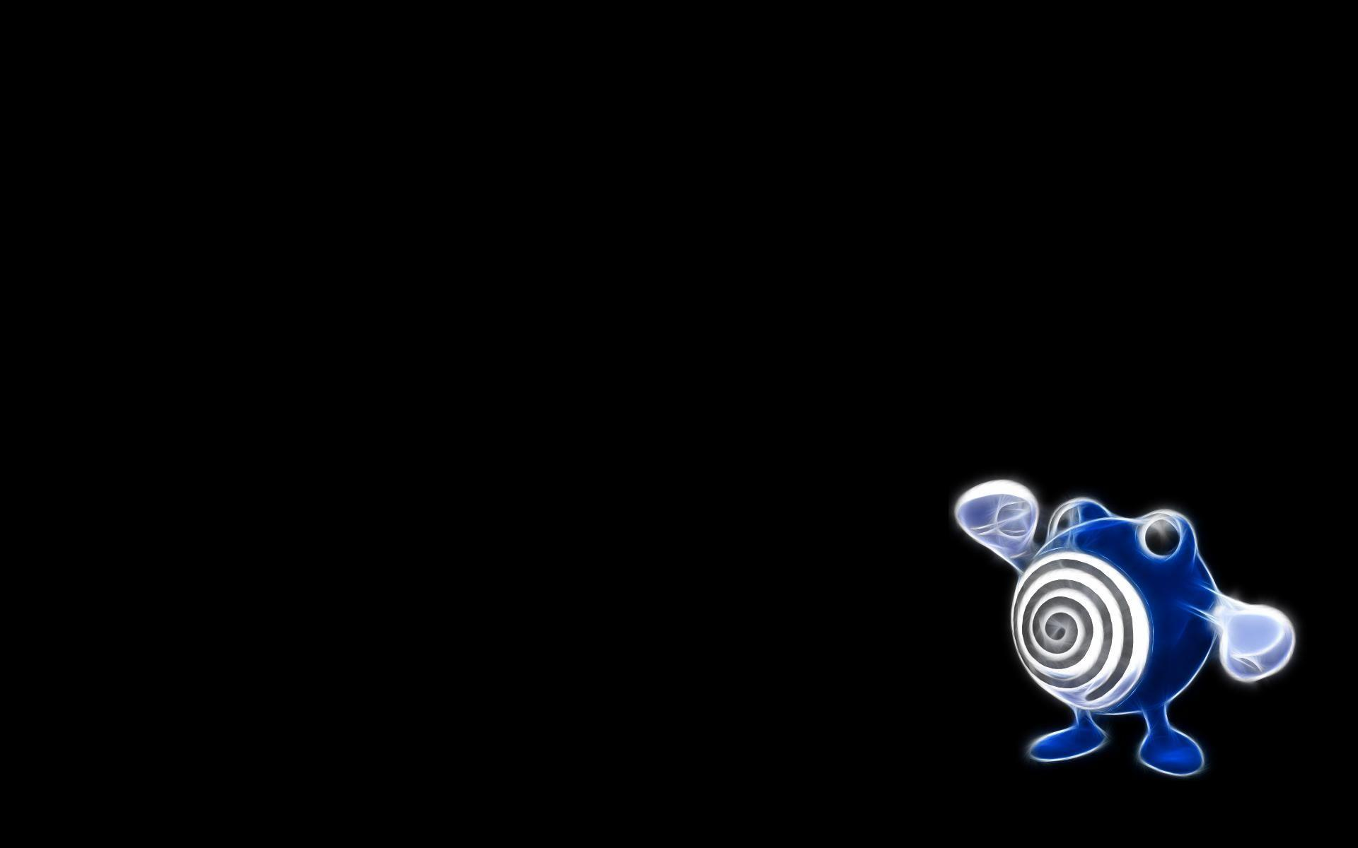 Poliwhirl, Minimalism, Black Background wallpaper | anime ...
