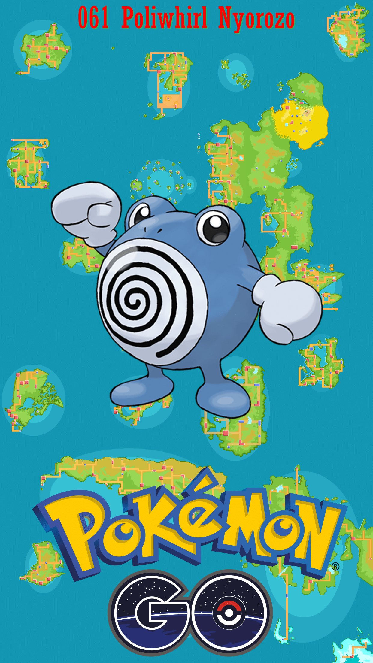 061 Street Map Poliwhirl Nyorozo | Wallpaper