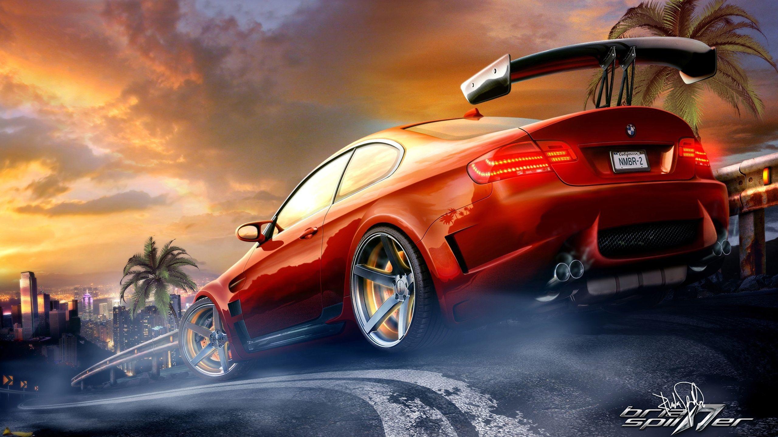 Red Race Car Wallpaper