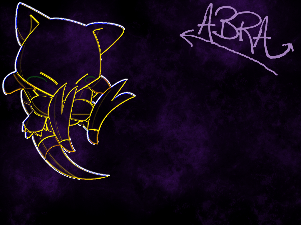 Abra backgrounds by IcebladeAbra